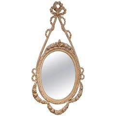 Hand-Carved Louis XV Oval Mirror