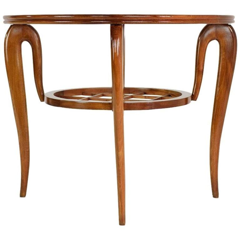 Italian Coffee Table Attributed to Poalo Buffa, 1950s  1