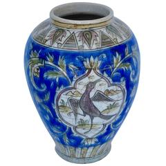 19th Century Persian Vase Blue and White