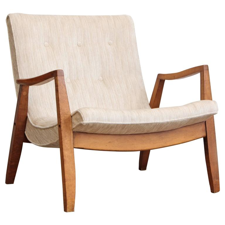 Milo Baughman Scoop Lounge Chair For Sale