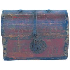 18th Spanish Colonial Mexican Domed Top Lacquerware Box Haskell