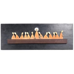 Los Castillo Abstract Modern Wall Sculpture The Last Supper