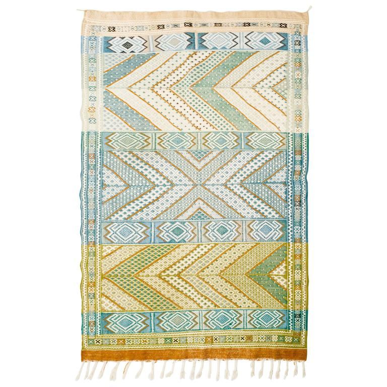 Moroccan Middle Atlas Flat-Weave Rug For Sale At 1stdibs