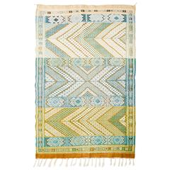 Moroccan Middle Atlas Flat-Weave Rug