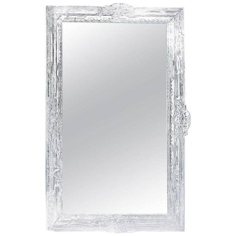baroque clear plastic mirror with baroque frame with