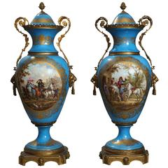 Pair of 19th Century Sèvres Style Vases