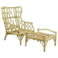 Ficks U0026 Reed Rattan Chair And Ottoman