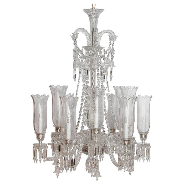 Philippe starck for baccarat zenith long twelve light chandelier for sale