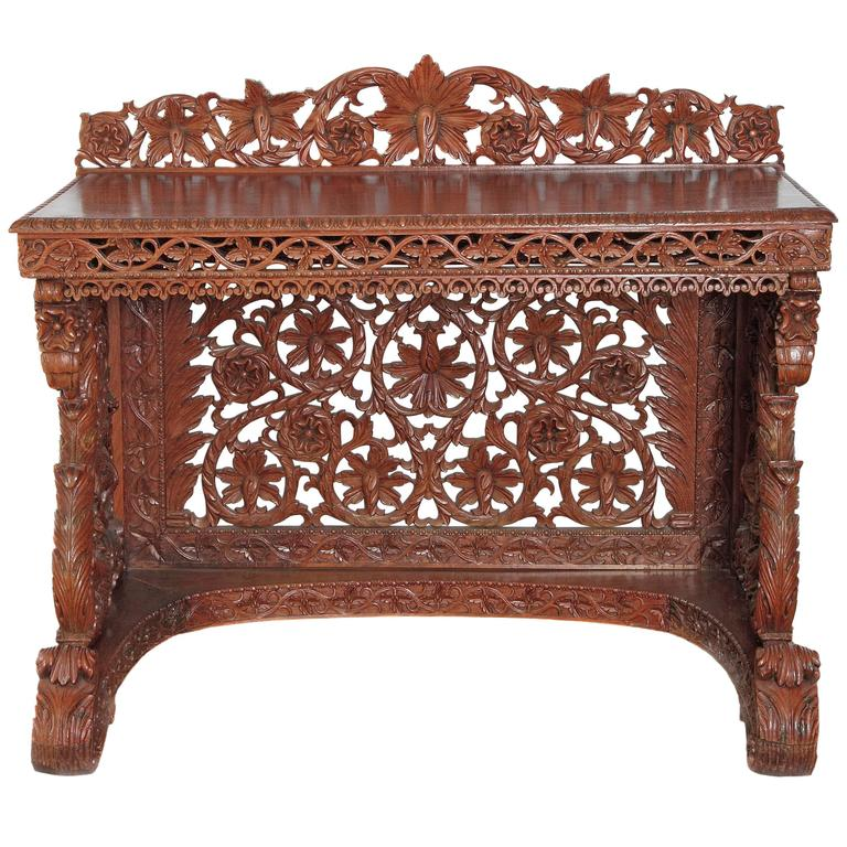 Anglo indian sideboard for sale at 1stdibs for Sideboard indien