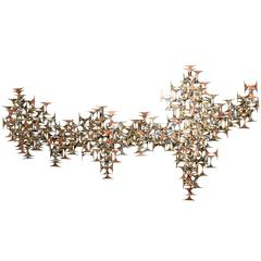 Abstract Brutalist Wall Sculpture by Marc Weinstein