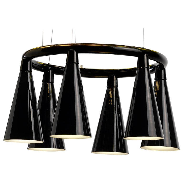 Komori R6 by Nendo, Chandelier Reminiscent of Bats, Murano Glass For Sale