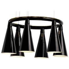 Komori R6 by Nendo, Chandelier Reminiscent of Bats, Murano Glass