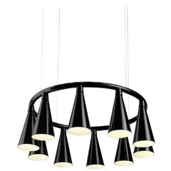 Komori R10 by Nendo, Chandelier Reminiscent of Bats, Murano Glass