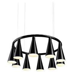 Komori R10 by Nendo, Chandelier Reminiscent of Bats, Murano Glass