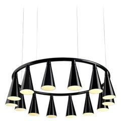 Komori R14 by Nendo, Chandelier Reminiscent of Bats, Murano Glass