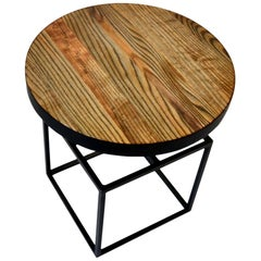 Willard Side Table, End Table, Contemporary Modern, Wood and Steel