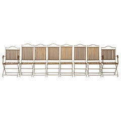 French Metal Garden Dining Chairs