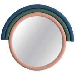 Iris Geometrical Shaped Mirror in 3 different colored Kvadrat fabrics on plywood