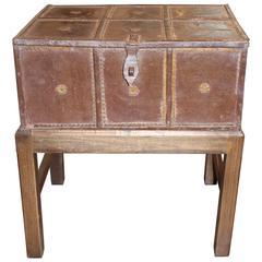 Antique Large Spanish Storage Box on Stand