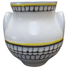Ceramic 'Eared' Vase (Vase à Oreilles) by Roger Capron, Vallauris, France 1950s