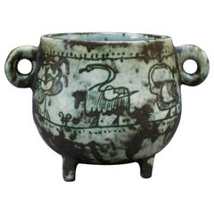 Four-Legged Ceramic Pot by Jacques Blin, circa 1950s