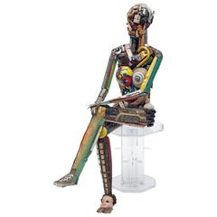 Leo Sewell Found Object Figural Sculpture, USA, 2014