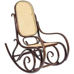 Schaukelstuhl Lounge Rocking Chair, Contemporary Rocking Chair in Solid Wood