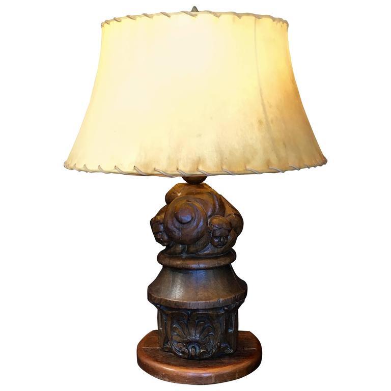 18th Century Architectural Element Lamp Conversion