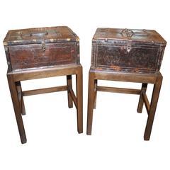 Antique Spanish Storage Box on Stand