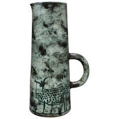 Ceramic Pitcher by Jacques Blin, Vallauris, France, circa 1950s - 60s