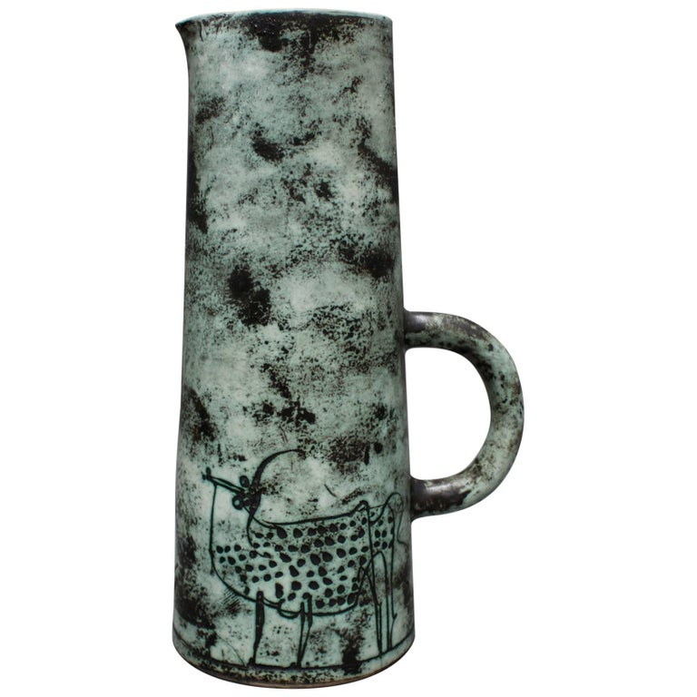 Ceramic Pitcher by Jacques Blin