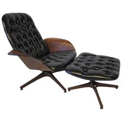 "Plycraft ""Mr. Chair"" Lounge Chair and Ottoman by George Mulhauser"