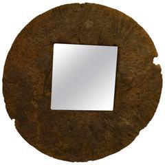 Andrianna Shamaris Teak Wood Framed Mirror