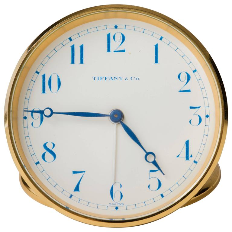 Tiffany Swiss Travel Clock With Leather Case At 1stdibs