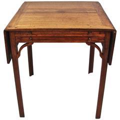Unusual George III Colonial Padouk Games Table