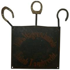 Late 19th Century Signboard of a Blacksmith