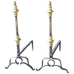 17th Century Dutch Firedogs or Andirons