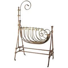 Beautiful Bronze 20th Century Cradle
