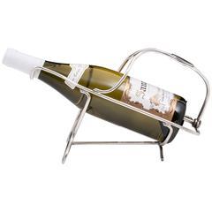 Christofle Art Deco silberbeschlagener Weinflaschenhalter
