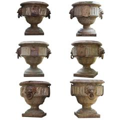 Beautiful Large Cast Iron Garden Vases, Probably French, circa 1820