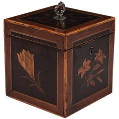 Antique Georgian Inlaid Tea Caddy