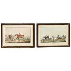 19th Century Copper Engravings of Equestrian Scenes by Henry Alken
