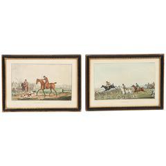 19th Century Copper Engravings of Equestrian Scenes by Henry Alken