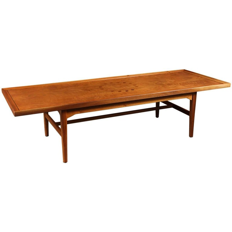 Mid Century Walnut Coffee Table By Kipp Stewart For Drexel For Sale At 1stdibs