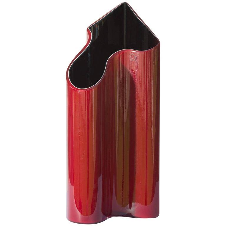 Italian Murano Glass Vase Kelo Model by Timo Sarpeneva for Venini, Italy For Sale