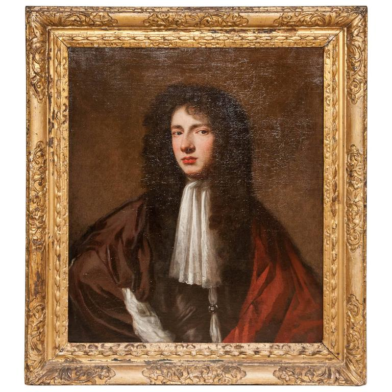 William and Mary Period Portrait of a Young Man ca. 1680