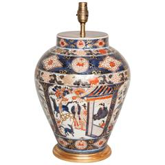 An 18th Century Japanese Imari Vase Lamped, circa 1700