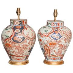 Pair of 17th Century Japanese Imari Vases as Table Lamps, circa 1680