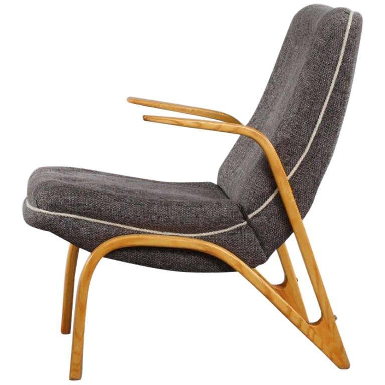 Charming Bentwood Armchair Designed Paul Bode, 1960