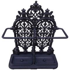 Scottish Cast Iron Decorative Umbrella Stand, Carron Company, Circa 1850